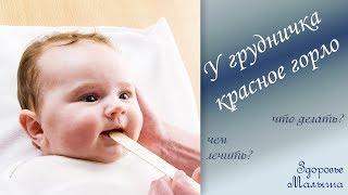 у грудного ребенка красное горло: причины и что делать