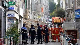 Marseille buildings collapse injures two people