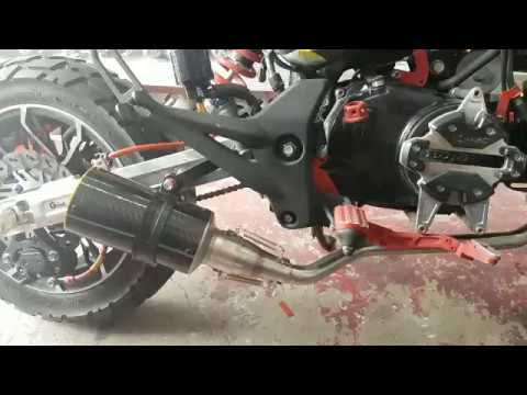Honda Grom MSX125 Low Mount Exhaust Carbon Without db killer silencer