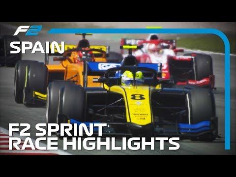 Formula 2 Sprint Race Highlights  2019 Spanish Grand Prix
