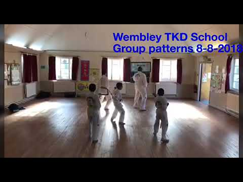Wembley TKD School Group patterns 8-8-2018