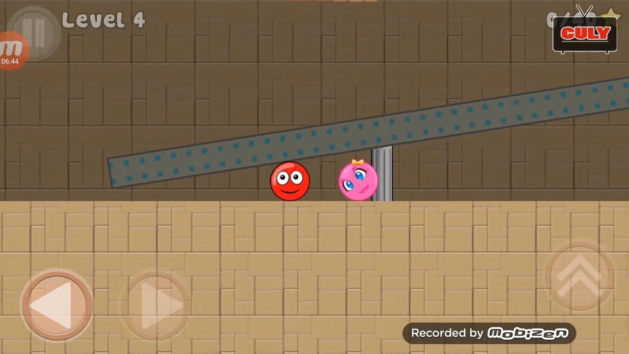 Cuộc phiêu lưu của viên bi màu đỏ cu lỳ chơigame lồng tiếng vui nhộn RED BALL 2 gameplay