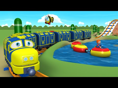 Toy Factory Cartoon - Train for Kids - Thomas Cartoon - поез
