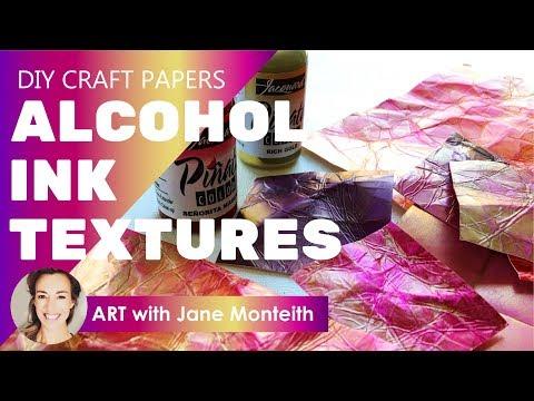 Cool DIY Alcohol Ink Vintage Effect Paper Textures!
