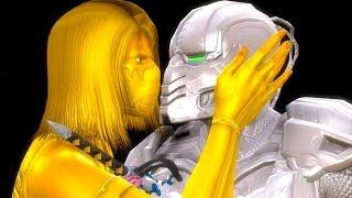 Mortal Kombat 9 - All Fatalities & X-Rays on Silver Cyrax Costume Skin Mod 4K Ultra HD Gameplay Mods
