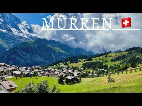 Mürren   a Car-FREE ⛔️ Village in Switzerland 🇨🇭Swiss Alps Village 🏔
