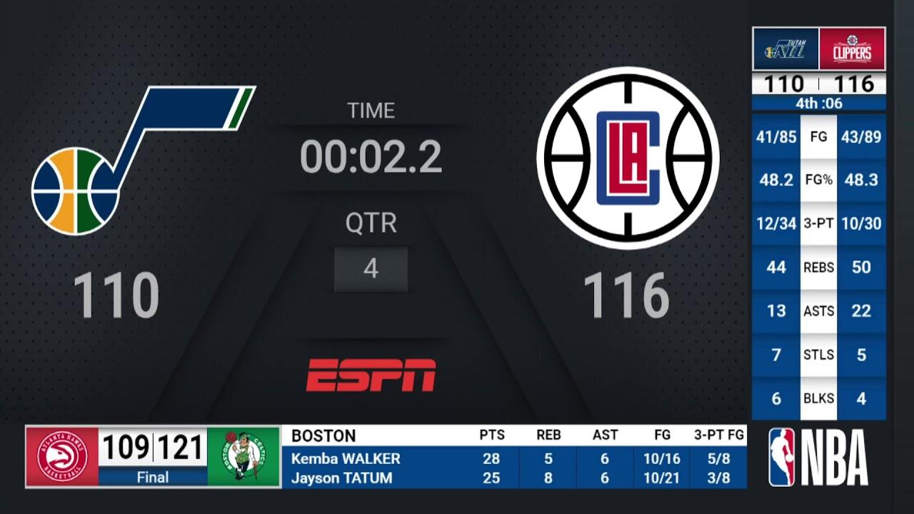 Jazz @ Clippers | NBA on ESPN Live Scoreboard