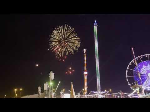 Fireworks. New year 2021. Global Village. Dubai. UAE.