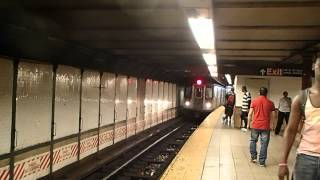 MTA New York City Subway R142 (2) Train enters 110 Street