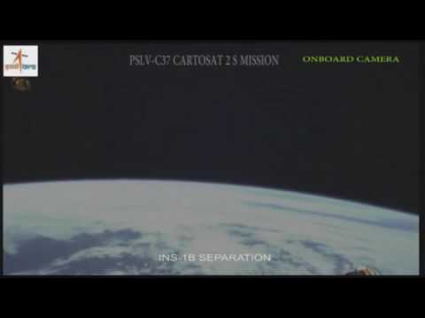 ISRO India Rocket PSLV C37 Releasing 104 Satellites Footage