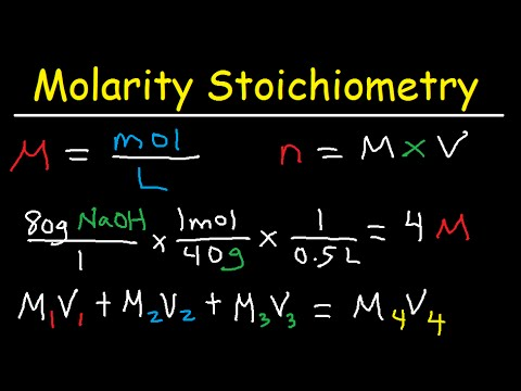 Molarity Dilution Problems Solution Stoichiometry Grams