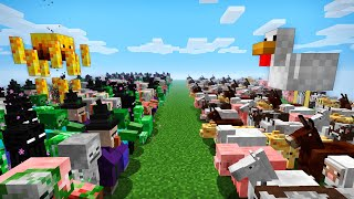 EVIL MONSTERS VS FRIENDLY MOBS in MINECRAFT Battle clone