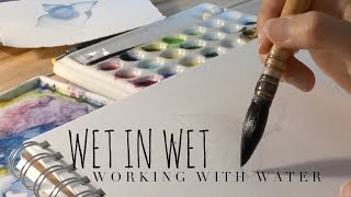 How to Use Watercolor: Controlling the Water / *ART GIVEAWAY subscribe to enter*