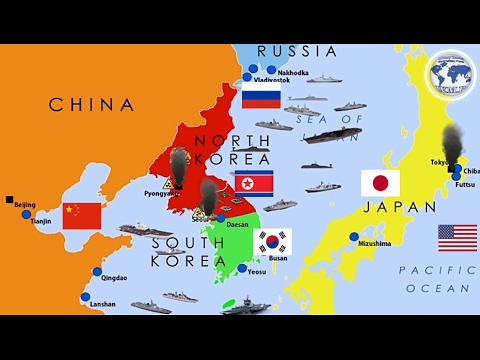 USA  Japan  South Korea VS Russia  China  North Korea Military
