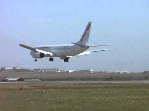 A Hard  Landing by Air Europa Boeing 737 800