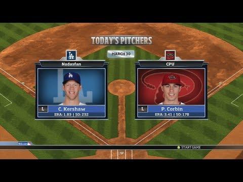 RBI Baseball 14: Season Mode - Los Angeles Dodgers vs Arizona Diamondbacks