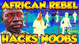 African Rebel Kony HACKS ANGRY NOOB On Fortnite Battle Royale! (Funny Fortnite Trolling)
