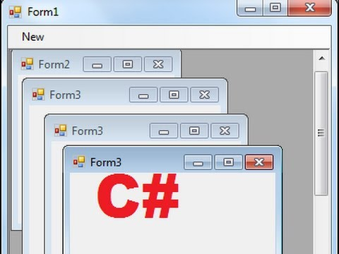 C# Tutorial 83: How to use MultipleDocument Interface MDI in Windows Forms C#
