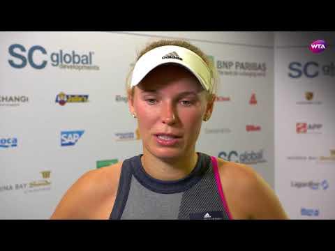 My Performance   Caroline Wozniacki defeats Simona Halep   2017 WTA Finals Singapore
