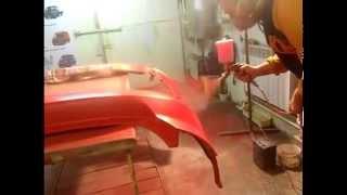 Как покрасить пластмассовые бампер авто! Как ложить базу под лак!(https://www.youtube.com/channel/UCm0isf-hnhiUE5MnoV4MeBA Как покрасить авто в гараже покраска авто своими руками покраска базой..., 2015-10-13T07:49:06.000Z)