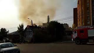 Пожар на улице  Смоленской в Калуге