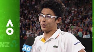 Hyeon Chung on court interview (4R)   Australian Open 2018