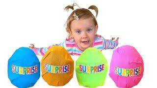 Полина и история про цветные яйца сюрпризы