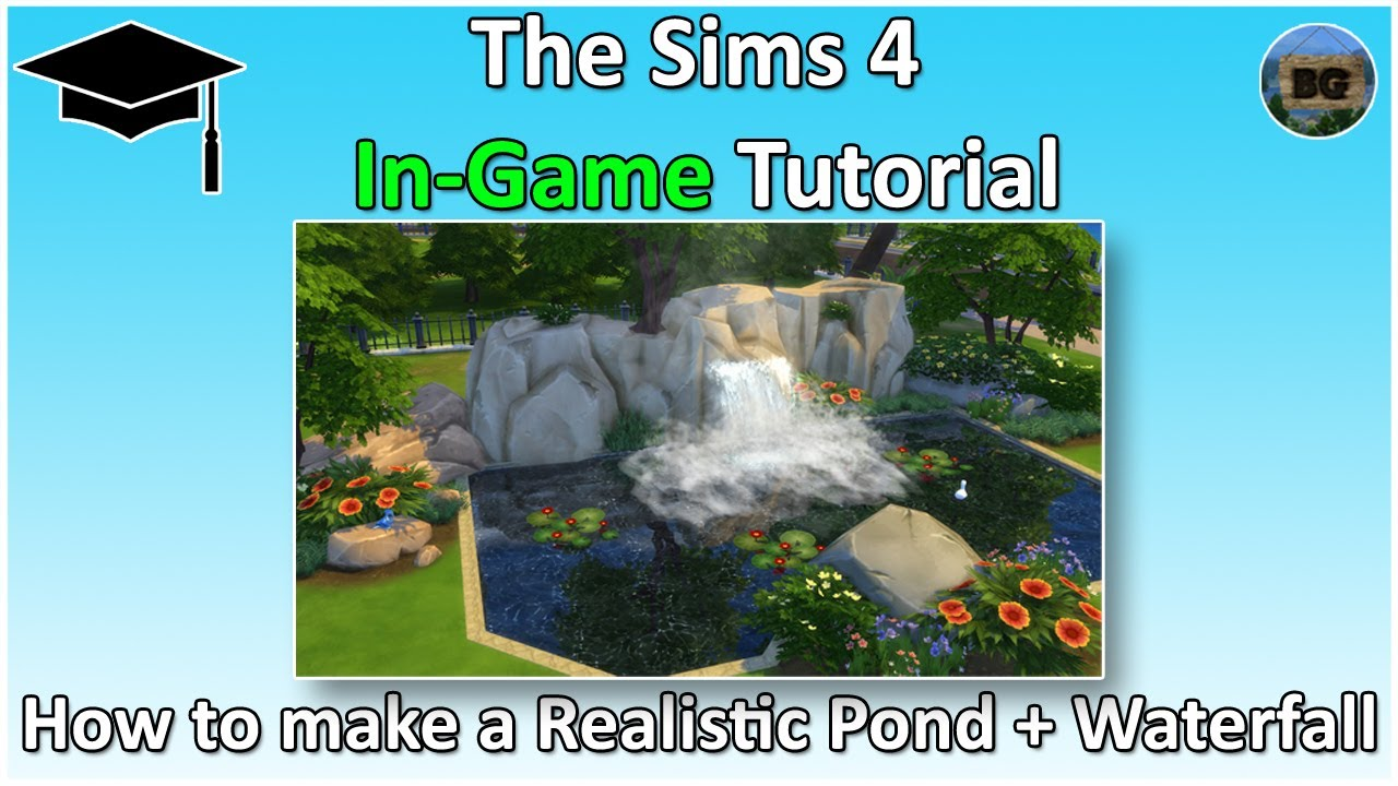 a tutorial to make a homemade waterfall in a pond Find this pin and more on
