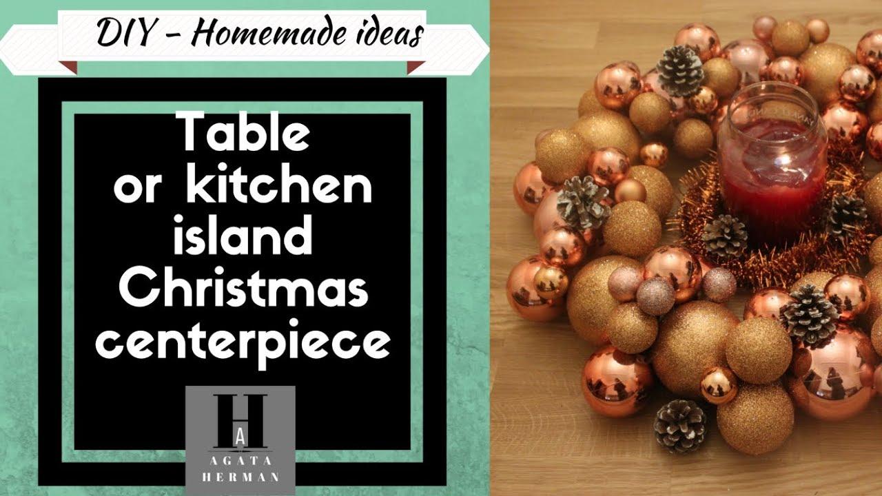 Eng 2017 Christmas Table Kitchen Island Centerpiece Diy Homemade Ideas Agata Herman Youtube