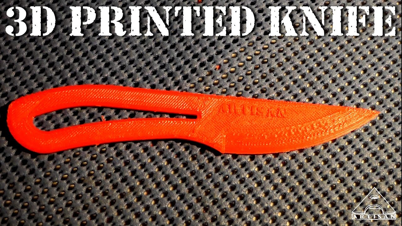 3d printed knife will it cut paper youtube - Cool Stuff To Print Out