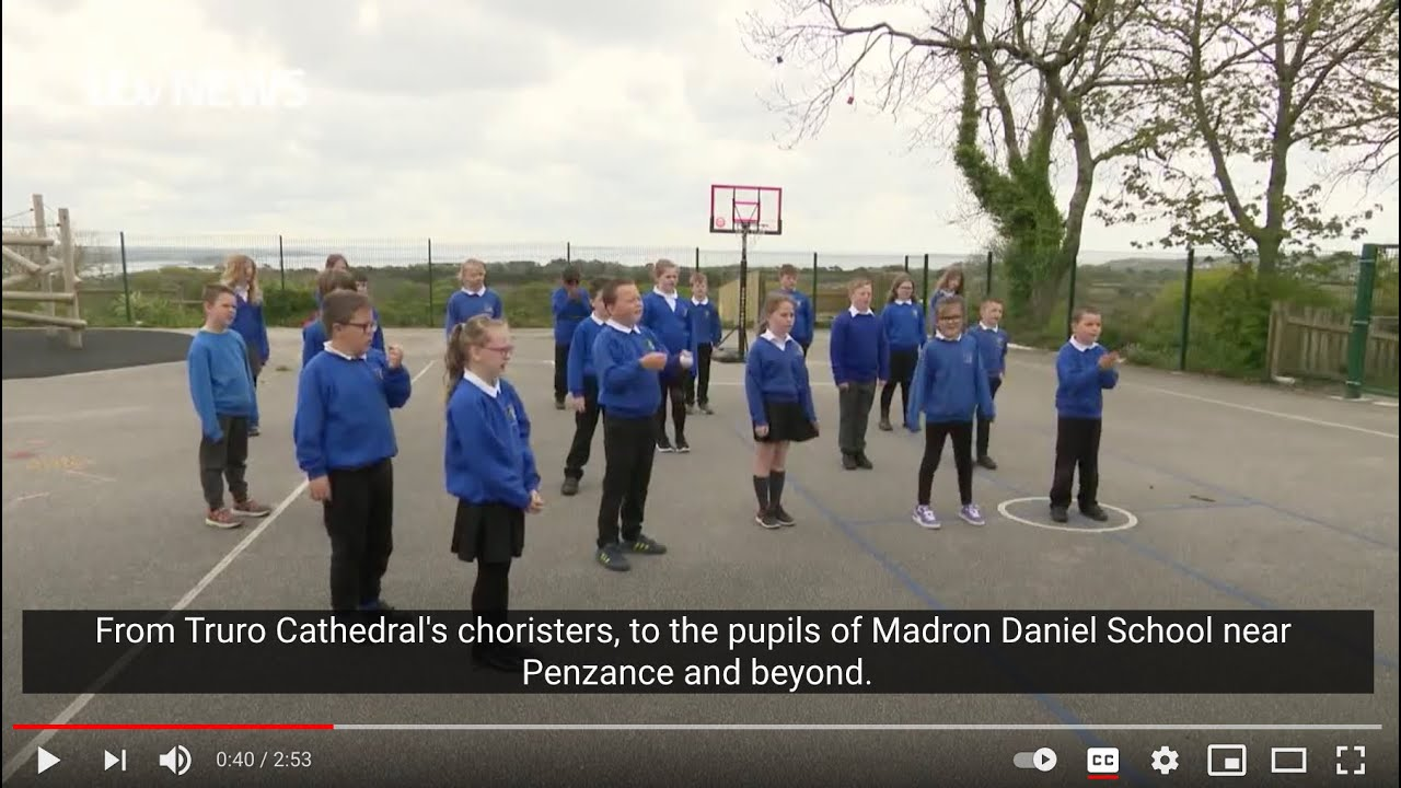 ITV Westcountry at Madron School with Sing2G7, 'How do we put children's voices at the heart of G7?'