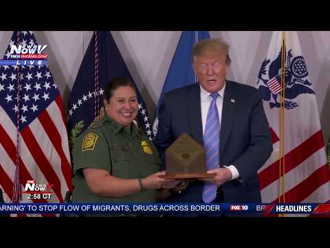 MUST WATCH: President Trump Receives Piece of Border Wall