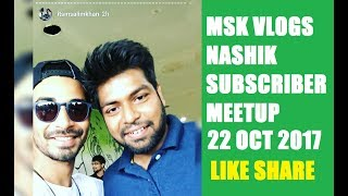 MSK Vlogs Nashik Meetup City Center Mall 22nd OCT 2017 - Biker Aman