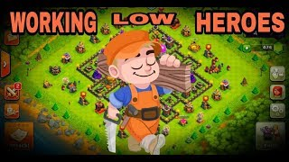 WORKING LOW HEROES-CLASH OF CLANS-TH9