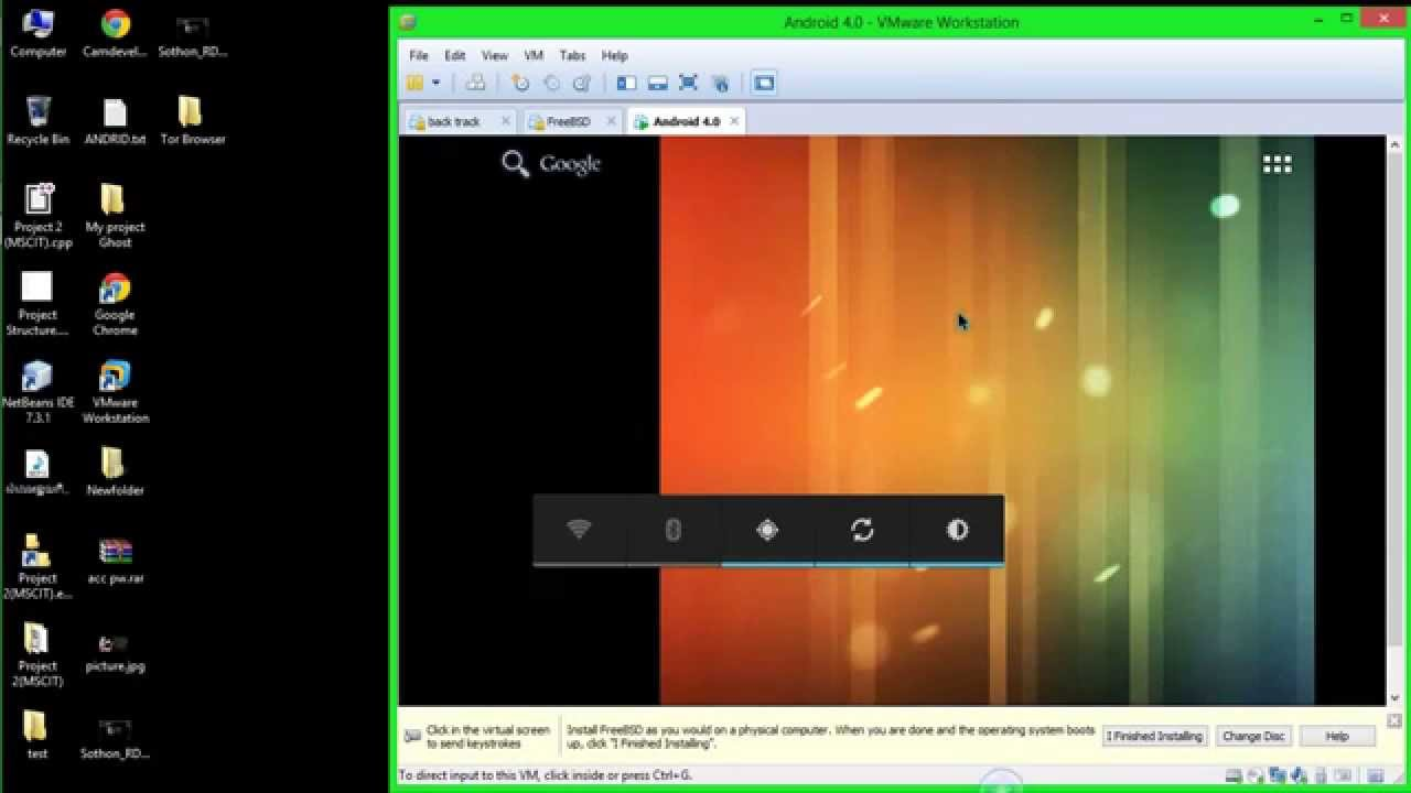 How to install android in Vmware and run terminal of ...