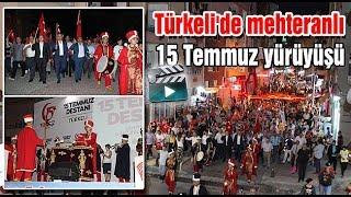 Türkeli'de mehteranlı 15 Temmuz yürüyüşü