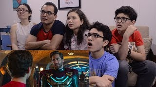 SPIDER-MAN: FAR FROM HOME || OFFICIAL TRAILER REACTION || MAJELIV FAMILY REACTS