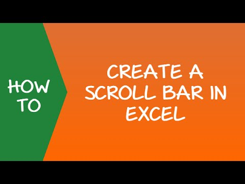How to Create a Scroll Bar in Excel
