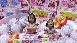 Buka Paket Mainan Telur Frozen - Zaini Eggs Inside Frozen Elsa, Minnie