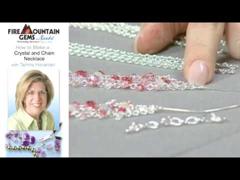 How to Make a Crystal and Chain Necklace