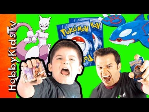 Pokemon Trading Card Game! Mewtwo HobbyPig vs HobbyGuy Kyogre Battle Part 2 HobbyKidsTV