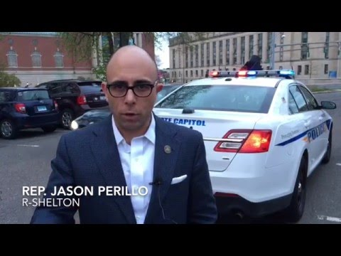Rep. Jason Perillo (R-113) talks about cosponsoring a bill that finally eliminates the legal requirement for state troopers to deliver notice to members of the General Assembly when a special session of the legislature is called.