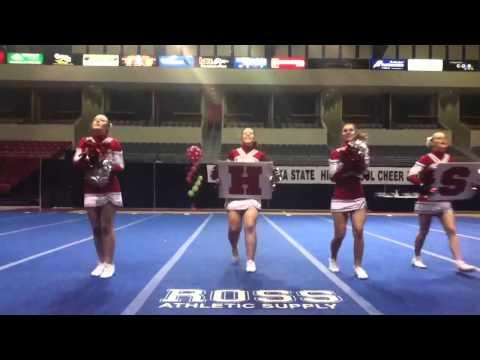 Nebraska state cheer and dance