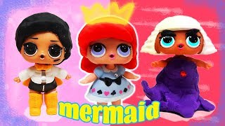 LOL Surprise Dolls Perform The Little Mermaid Ariel Play! Featuring Super BB, Beats & Pink Baby!