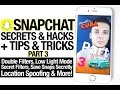 Snapchat Secrets, New Tips & Tricks + Hacks Part 3!