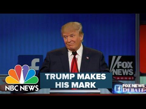 Donald Trump Makes His Mark During Republican Primary Debate | NBC News
