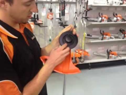 How to attach the stihl autocut® c 5-2 cutting head youtube.