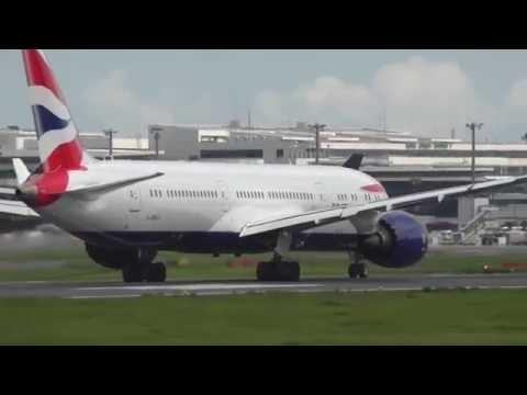 Tokyo Narita Airport Aircraft Movements with ATC and British Airways, 777