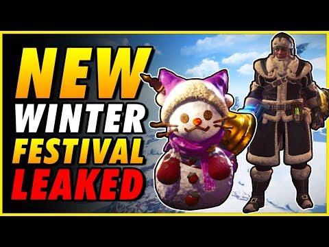 NEW WINTER FESTIVAL LEAKED - MHW New Leaked Armor Monster Hunter World