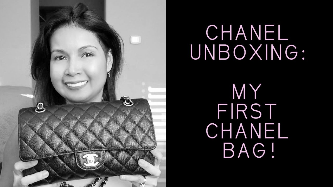 4de851939d10 CHANEL Unboxing | My First CHANEL | Medium Classic Flap - YouTube